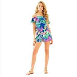 Lilly Pulitzer NWT Klea Off the Shoulder Romper